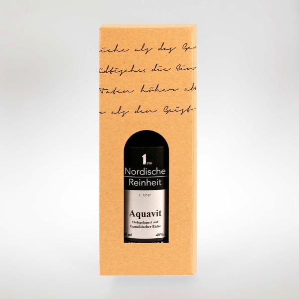 Präsentkarton, 1er - für Gin / Aquavit